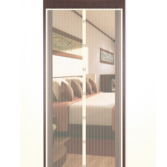 WSP ม่านประตูกันยุงและแมลง ขนาด 90x210 ซม. สีเบจ