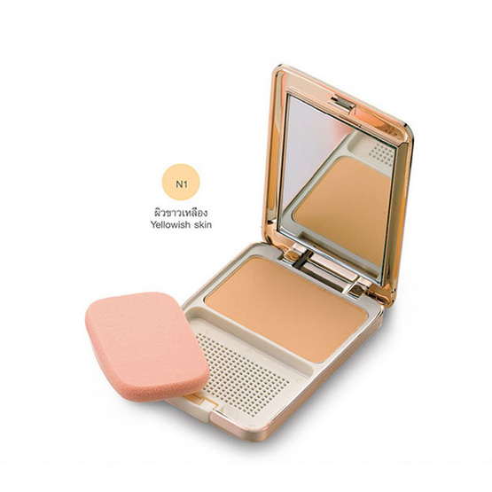 MTI Feel Perfect Compact Powder Foundation With Sunscreen 14.5g. #N1ผิวขาวเหลือง