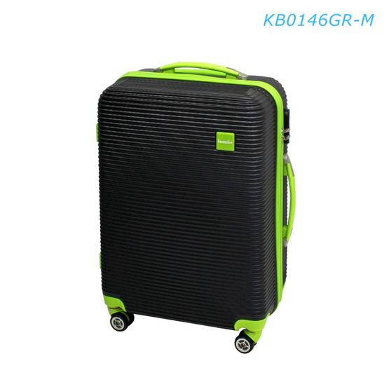 """Fantastico กระเป๋าเดินทาง KB0146GR-M 24"""" พื้นดำขลิบเขียว"""