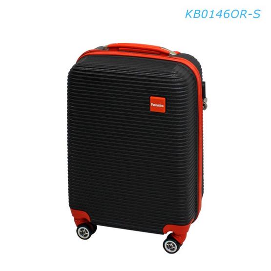 """Fantastico กระเป๋าเดินทาง KB0146OR-S 20"""" พื้นดำขลิบส้ม"""