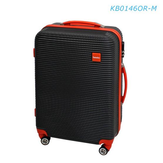 """Fantastico กระเป๋าเดินทาง KB0146OR-M 24"""" พื้นดำขลิบส้ม"""