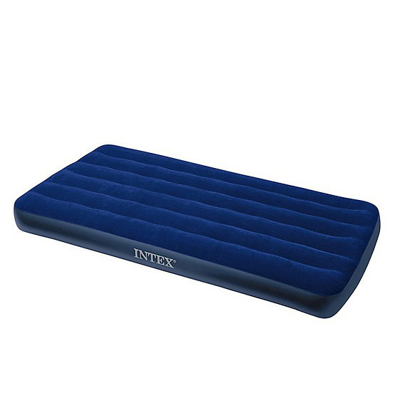 Intex ชุดที่นอนเป่าลมเตียงเดี่ยว ฟรี หมอน 1 ใบ และที่สูบลม Double Quick I