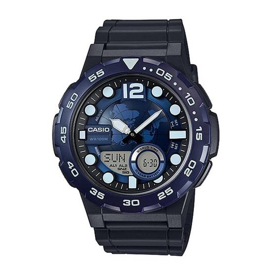 CASIO นาฬิกาข้อมือ รุ่น AEQ-100W-2AVDF