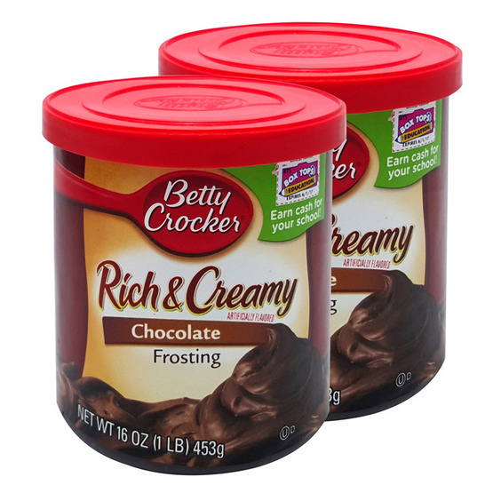 BETTY CROCKER FROSTING CREAMY CHOCOLATE 453g.  [2 ชิ้น]