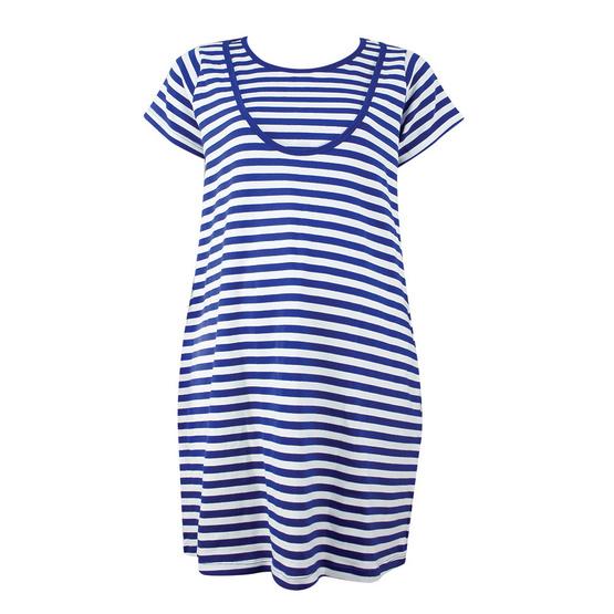 Threeangels Matrenity Dress AT15-366T-NAVY/WHITE