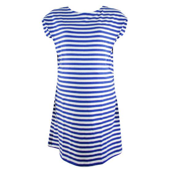 Threeangels Matrenity Dress AT15-368T-NAVY/WHITE-XL