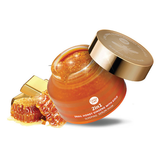 Cathy Doll  2in1 Snail Honey Ginseng with Gold Sleeping Serum Mask 70 g. Secret Recipe (Ver.2)