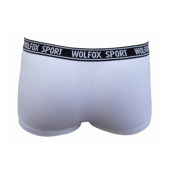 Wolfox Sport Pants Text กางเกงขาสั้น ขอบตัวอักษร สีขาว