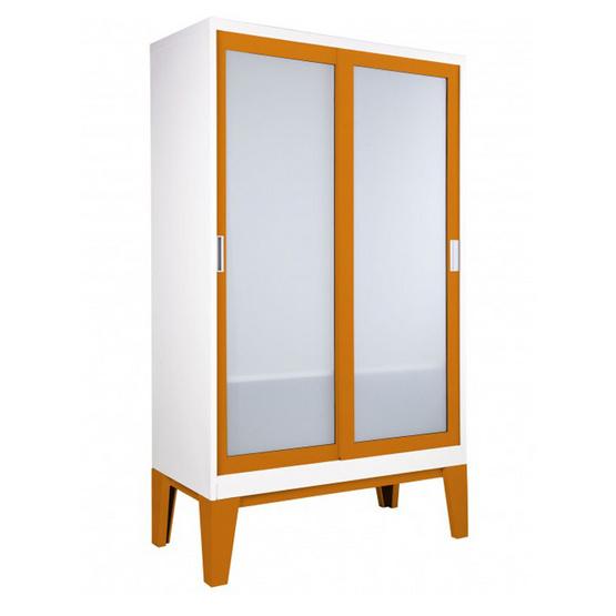 KISOK-WD-05-2 ตู้เสื้อผ้าบานเลื่อนกระจกเงา รุ่น ROPA