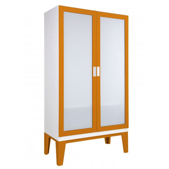 KIOSK-WD-02-2 ตู้เสื้อผ้าบานเปิดกระจกเงา รุ่น ROPA