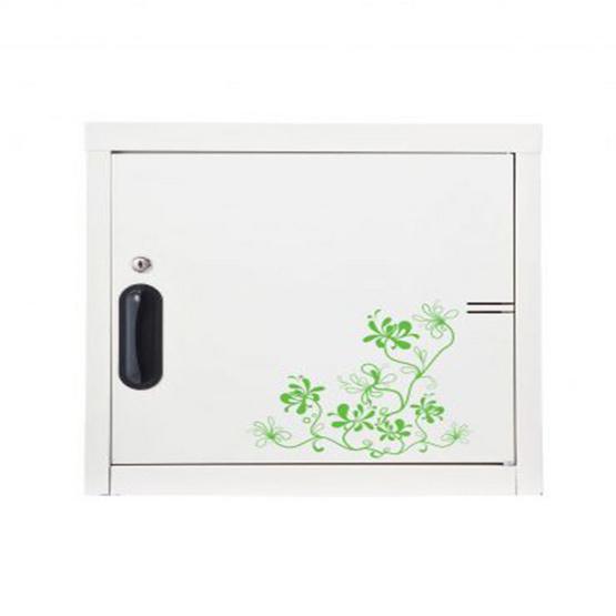 KIOSK-UNC-1 ตู้บานเปิดทึบเล็ก มีลวดลาย รุ่น Uni-line ลาย V-Vintage
