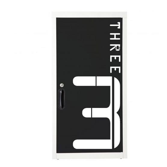 KIOSK-UDC-1 ตู้บานเปิด มีลวดลาย รุ่น Uni-line ลาย N-Number