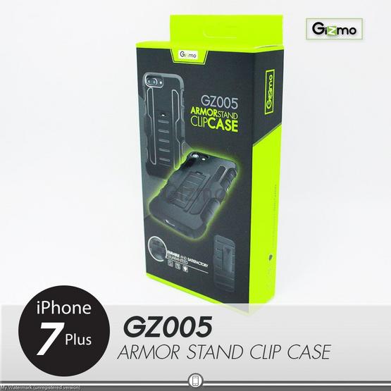 Gizmo iPhone 7 Plus Armor Stand Clip Case Black
