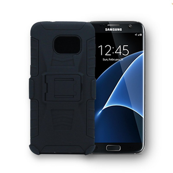 Gizmo Armor Stand Clip Case Galaxy S7 Edge Black