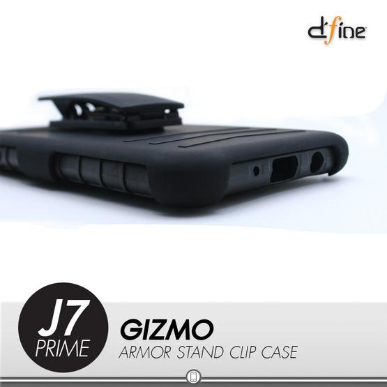 Gizmo Armor Stand Clip Case Galaxy J7 Prime Black