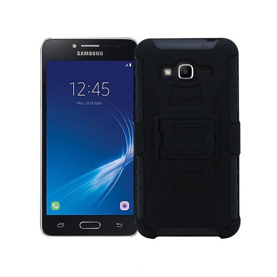 Gizmo Armor Stand Clip Case Galaxy J2 Prime Black