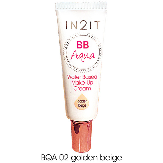 IN2IT BB Aqua  Make-Up Cream20ml. #BQA02 Golden beige