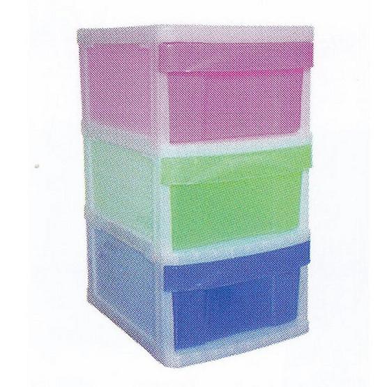 OA Furniture ตู้ลิ้นชักพลาสติก RAINBOW 3 ชั้น