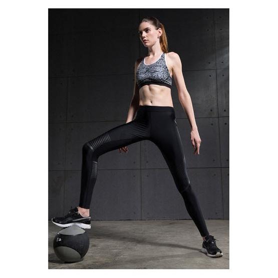 Vansydical กางเกงรัดกล้ามเนื้อ Power speed สีดำ-เทา