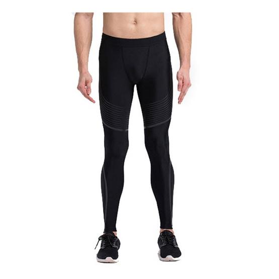 Vansydical กางเกงรัดกล้ามเนื้อชาย Power speed สีดำ-เทา
