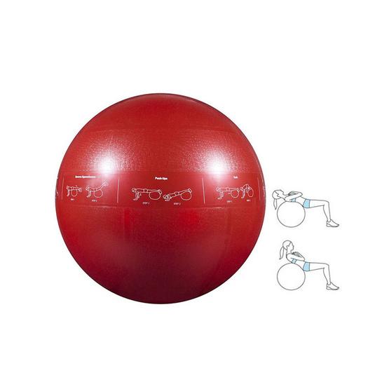 a bloom ลูกบอลโยคะ ขนาด 55 ซม. สีแดง พิเศษ! แถมฟรี ที่สูบลม