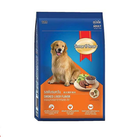 Smart Heart อาหารสุนัขโต ตับรมควัน 10 kg.
