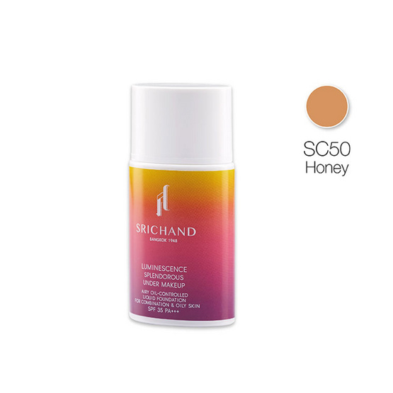 SRICHAND Luminescence Splendorous Under Makeup 30ml. #SC50 Warm Honey