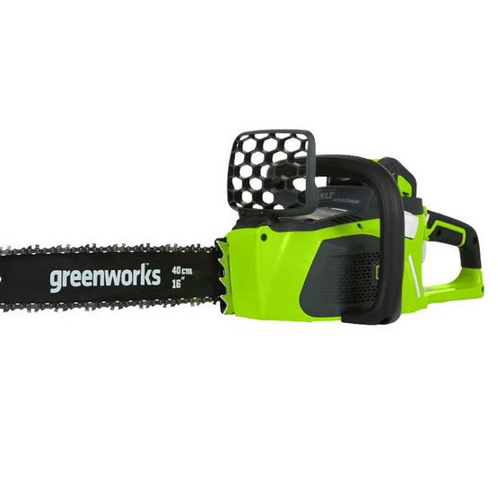 Greenworks เลื่อยตัดไม้ 40V พร้อมแบตเตอร์รี่และแท่นชาร์ต