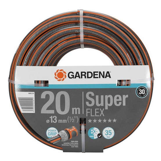 "GARDENA สายยางยืนหยุ่นสูง รุ่น SUPERFLEX HOUSE12x121/2""ยาว20เมตร"