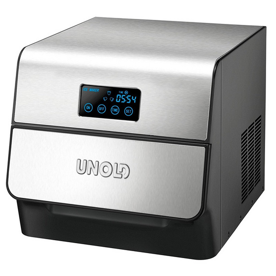 UNOLD เครื่องทำน้ำแข็ง รุ่น 48955 (Stainless/Black)