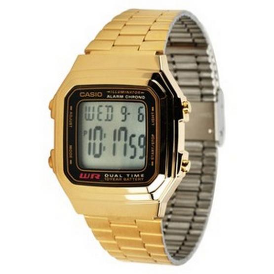 CASIO นาฬิกาข้อมือ รุ่น A178WGA-1ADF