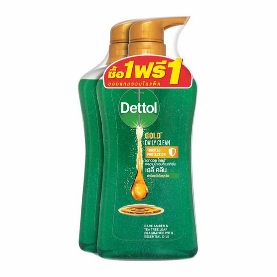 Dettol โกลด์ เจลอาบน้ำ เดลี่คลีน 500 มล. ขวดปั๊ม