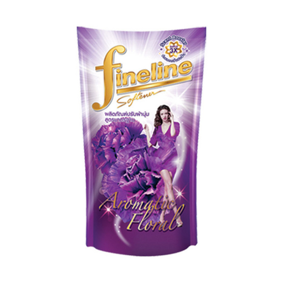ไฟน์ไลน์ น้ำยาปรับผ้านุ่ม กลิ่นอโรมาติก ฟลอรัล 600 มล. สีม่วง