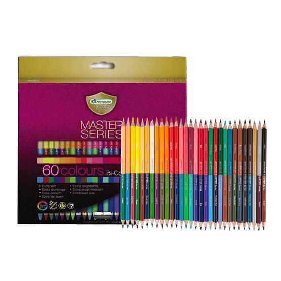 Master Art ดินสอสีมาสเตอร์อาร์ต 2 หัว 60 สี รุ่นมาสเตอร์ซีรี่ย์