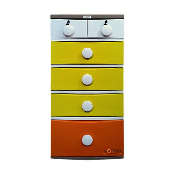 Modern Furniture ตู้ลิ้นชัก รุ่น B56 - D10 รุ่นส้มเหลือง