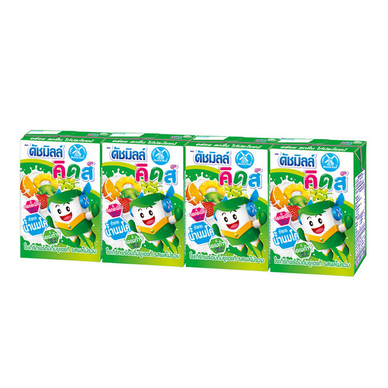 ดัชมิลล์ คิดส์ นมเปรี้ยว รสผลไม้รวม 90 มล. (ยกลัง 48 กล่อง)