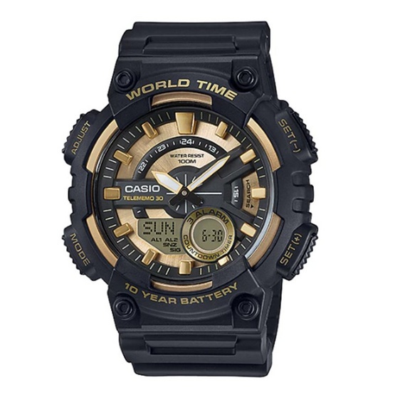CASIO นาฬิกาข้อมือ 10Year Battery รุ่น AEQ-110BW-9AVDF