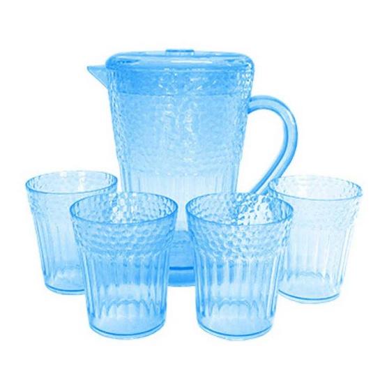 RRS ชุดเหยือกน้ำ + แก้ว 4 ใบ 1600 ml. (สีฟ้า)