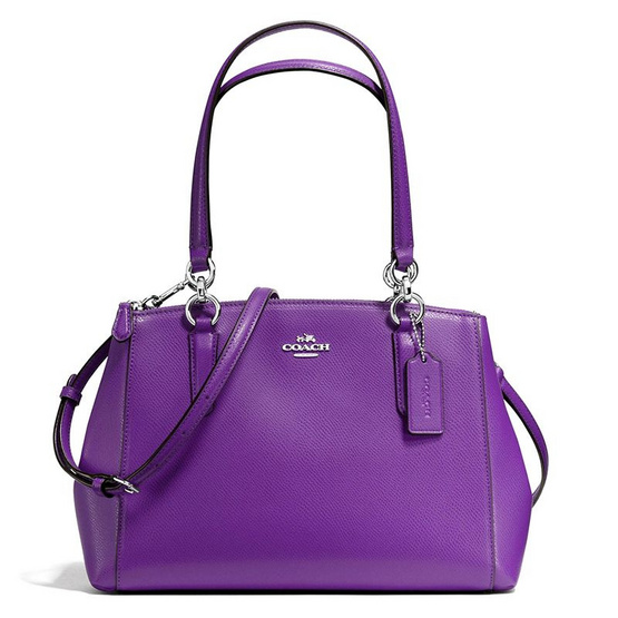 COACH กระเป๋า F36637 SMALL CHRISTIE CARRYALL IN CROSSGRAIN LEATHER