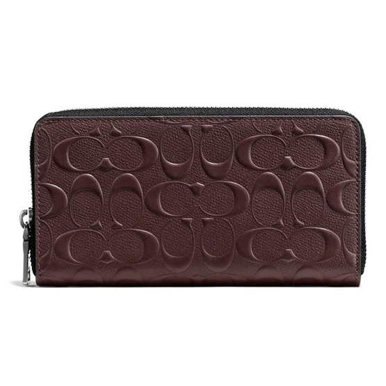 b2c6ea637406 COACH กระเป๋าสตางค์ F58113 ACCORDION WALLET IN SIGNATURE CROSSGRAIN LEATHER