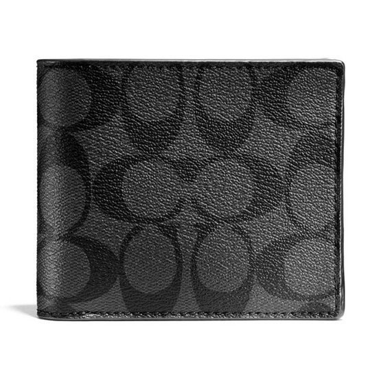 COACH กระเป๋าสตางค์ F74993 COMPACT ID WALLET IN SIGNATURE