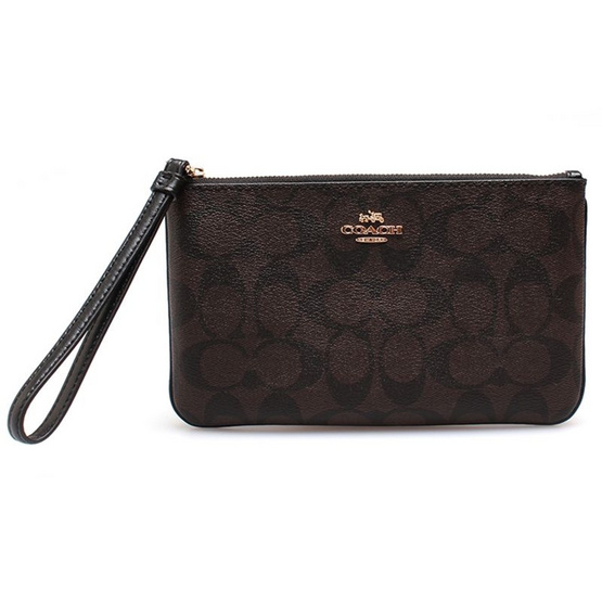 COACH กระเป๋า F58695 LARGE WRISTLET IN SIGNATURE