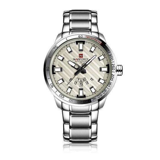 NAVIFORCE นาฬิกาข้อมือ รุ่น NF9090M สีเงิน