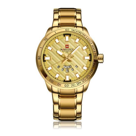 NAVIFORCE นาฬิกาข้อมือ รุ่น NF9090M สีทอง
