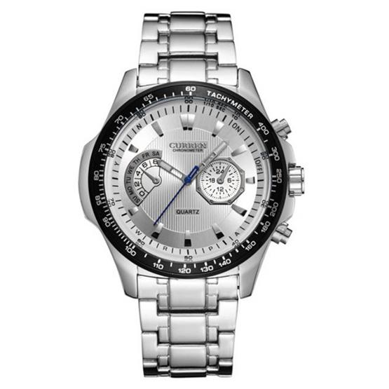 CURREN นาฬิกาข้อมือ รุ่น 8020 สีเงิน/ขาว
