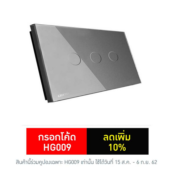 GRATIA Switch Standard รุ่น GRE03-GL2x4 สีเทา