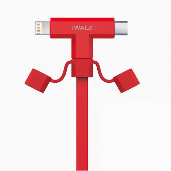 iWALK สายชาร์จ 2-IN-1  (Micro/Lightning)