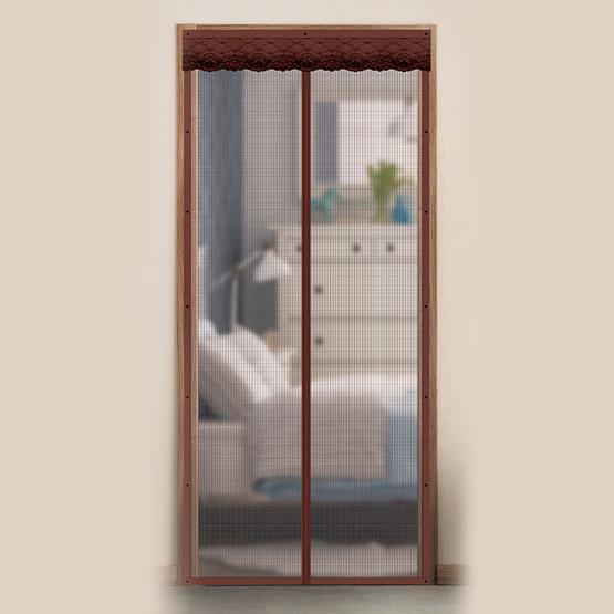 WSP ม่านประตูกันยุงและแมลง ขนาด 90 X 210 ซม. สีน้ำตาล
