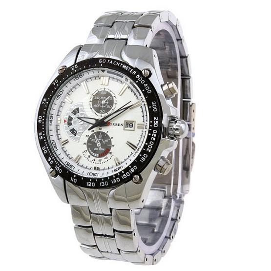 CURREN นาฬิกาข้อมือ รุ่น 8083 สีเงิน/ขาว