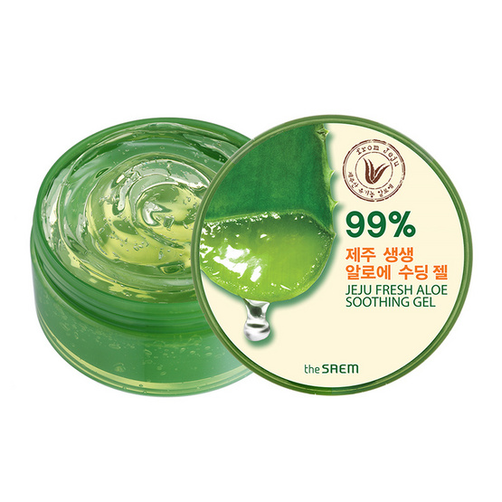 The saem Jeju Fresh Aloe Soothing Gel 99% 300 ml.